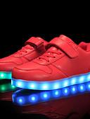tanie Damskie spodnie-Dla chłopców Obuwie Materiał do wyboru / Derma Jesień / Zima Wygoda / Świecące buty Adidasy Sznurowane / Tasiemka / LED na Czerwony / Niebieski / Różowy