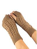 preiswerte Damenhandschuhe-Damen Handgelenk-Länge Halbfinger Handschuhe Solide / Winter