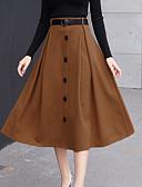 cheap Women's Skirts-Women's Chic & Modern Skirt Skirts - Solid Color High Waist