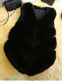 tanie Damskie płaszcze z futrem naturalnym i sztucznym-Futro Damskie W serek Solidne kolory Inne