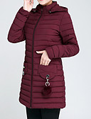 cheap Women's Coats & Trench Coats-Women's Padded Coat,Casual Daily Going out Solid-Polyester Long Sleeves