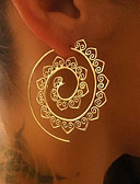 cheap Women's Scarves-Women's Hoop Earrings - Wave Vintage Gold / Silver For Christmas Wedding Party