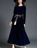 olcso Dresses For Date-Női Parti / Alkalmi Swing Ruha Egyszínű Maxi