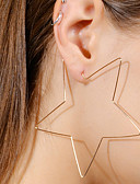 preiswerte Damenmäntel und Trenchcoats-Damen Tropfen-Ohrringe - Stern Einfach, Europäisch, Modisch Gold / Silber Für Bar