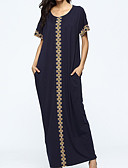 cheap Women's Dresses-Women's Going out Loose Dress - Color Block Print Maxi / Fall