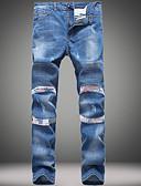 preiswerte Herren-Hosen und Shorts-Herrn Street Schick Leinen Chinos Jeans Hose Solide