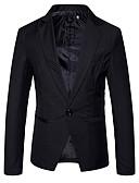 זול גברים-ג'קטים ומעילים-Houndstooth בלייזר - בגדי ריקוד גברים כותנה
