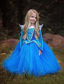 זול שמלות מודפסות-נסיכות Cinderella אגדה שמלות בנות בגדי ריקוד ילדים שמלות חג המולד נשף מסכות פסטיבל / חג תלבושות כחול / ורוד קולור בלוק מקסים
