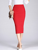 cheap Women's Dresses-Women's Bodycon Skirts - Solid Colored Split High Waist
