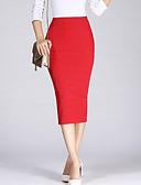preiswerte Damen Röcke-Damen Bodycon Röcke - Solide Gespleisst Hohe Taillenlinie