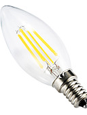 cheap Quartz Watches-BRELONG® 1pc 4W 300-350 lm E14 LED Filament Bulbs C35 leds COB Dimmable Decorative Warm White AC 220-240V