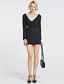 cheap Women's Dresses-Women's Club Bodycon Dress - Solid Colored Deep V