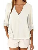 levne Tričko-Dámské - Jednobarevné Tričko Polyester Do V