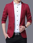 ieftine Blazer & Costume de Bărbați-Bărbați Mărime Plus Size Blazer Mată