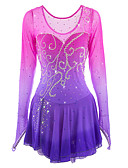 cheap Ice Skating Dresses , Pants & Jackets-Figure Skating Dress Women's / Girls' Ice Skating Dress Pink / Purple Halo Dyeing Spandex High Elasticity Competition Skating Wear Handmade Ice Skating / Figure Skating