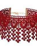 tanie Sukienki-Damskie Naszyjniki choker - Koronka Kwiat Prosty, Słodkie Czerwony Naszyjniki Biżuteria 1 Na Codzienny, Wyjściowe