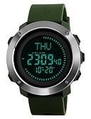 cheap Sport Watches-SKMEI Men's Sport Watch Wrist Watch Digital Watch Japanese Digital 50 m Water Resistant / Water Proof Alarm Calendar / date / day PU Band Digital Luxury Casual Black / Green - Black Green One Year