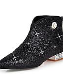 abordables Vestidos de cóctel-Mujer Zapatos Brillantina / Lentejuelas / Sintético Otoño / Invierno Botas de Moda / Botas hasta el Tobillo Botas Tacón de cristal Dedo