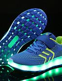 رخيصةأون ربطات العنق للرجال-صبيان أحذية شبكة / قماش ربيع / شتاء مريح / أحذية مضيئة أحذية رياضية لزيق سحري / LED إلى أزرق / زهري / أسود / أحمر