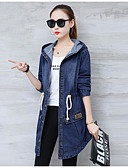 cheap Women's Denim Jackets-Women's Basic Plus Size Cotton Loose Coat - Solid Colored