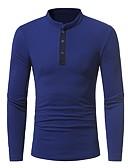 tanie Męskie koszulki polo-Polo Męskie Wzornictwo chińskie Bawełna Kołnierz stawiany Solidne kolory / Długi rękaw
