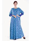 cheap Women's Dresses-Women's Abaya / Jalabiyah / Jalabiya Dress - Floral Maxi