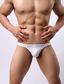 cheap Men's Underwear & Socks-Men's G-string Underwear Solid Colored 1 Piece Low Waist