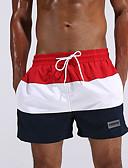 levne Pánská polo trika-Pánské Proužky Barevné bloky Kalhotky Plavky Sexy Polyester Módní Trávová zelená Rubínově červená
