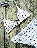 billige Damebukser-Dame Grime Hvid Bikini Badetøj - Printer S M L