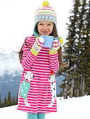 preiswerte Kleider für Mädchen-Mädchen Kleid Alltag Festtage Gestreift Baumwolle Ganzjährig Langarm Niedlich Freizeit Rote