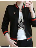 cheap Women's Blazers & Jackets-Women's Daily Basic Spring / Fall Short Jacket Stand Long Sleeve Cotton White / Black / Red L / XL / XXL