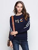 abordables Camisas y Camisetas para Mujer-Mujer Tallas Grandes Noche Activo / Chic de Calle Algodón A Rayas
