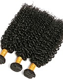 זול טרנינגים וקפוצ'ונים לגברים-3 חבילות שיער ברזיאלי Kinky Curly שיער אנושי טווה שיער אדם 8-28 אִינְטשׁ שוזרת שיער אנושי תוספות שיער אדם בגדי ריקוד נשים / קינקי קרלי