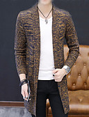 cheap Men's Sweaters & Cardigans-Men's Long Cardigan - Solid Round Neck
