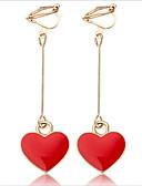 voordelige Damesnachtkleding-Dames Ring oorbellen / Clip oorbellen - Verzilverd Europees, Modieus Zwart / Fuchsia Voor Dagelijks / Toimisto & ura