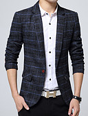 cheap Men's Tees & Tank Tops-Casual Cotton Blazer - Houndstooth, Oversized