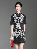 preiswerte Damen Kleider-Damen Chinoiserie A-Linie Kleid - Blume, Blumen Ständer