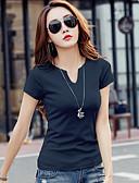 preiswerte T-Shirt-Damen Solide T-shirt