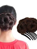 Χαμηλού Κόστους Γαμήλιες Εσάρπες-Σινιόν Κότσος Updo Κορδόνι Συνθετικά μαλλιά Κομμάτι μαλλιών Hair Extension Φράουλα Ξανθιά / Medium Auburn / Μαύρο / Σκούρο Καφέ / Medium Auburn