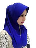 זול שמלות נשים-אופנה כיסוי ראש חיג'אב Abaya קפה חום אדום כחול ורוד משי אביזרי קוספליי