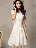 baratos Vestidos de Mulher-Mulheres Moda de Rua Calças - Sólido Branco Cintura Alta Branco / Rendas / Para Noite