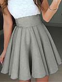preiswerte Damen Röcke-Damen Retro A-Linie Röcke - Solide