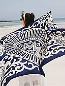 זול צעיפים אופנתיים-מלבן - צבעים מרובים, כותנה סגנון אמנותי שיק ומודרני בגדי ריקוד נשים