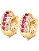 cheap Fashion Scarves-Women's Hoop Earrings - Imitation Diamond Classic, Fashion Gold For Daily / Formal