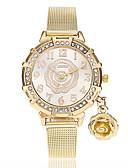 billige Trendy klokker-Dame Armbåndsur Quartz Imitasjon Diamant Legering Band Analog Blomst Fritid Mote Gylden - Gull