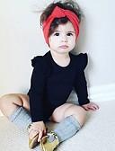 זול אוברולים טריים לתינוקות-מקשה אחת One-pieces שרוול ארוך אחיד פשוט בנות פעוטות