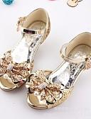 preiswerte Kleider für die Blumenmädchen-Mädchen Schuhe Glitzer Sommer Komfort / Schuhe für das Blumenmädchen Sandalen für Silber / Blau / Rosa