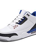 זול מכנסיים ושורטים לגברים-בגדי ריקוד גברים טול / PU אביב / קיץ נוחות נעלי אתלטיקה קולור בלוק שחור / שחור לבן / לבן וכחול