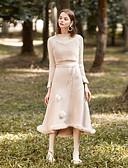 זול שמלות נשים-אחיד - חצאיות בתולת ים \חצוצרה וינטאג' פעיל בגדי ריקוד נשים