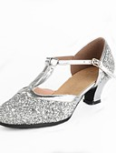 cheap Mother of the Bride Dresses-Women's Modern Shoes Paillette Heel Splicing / Paillette Customized Heel Customizable Dance Shoes Gold / Silver